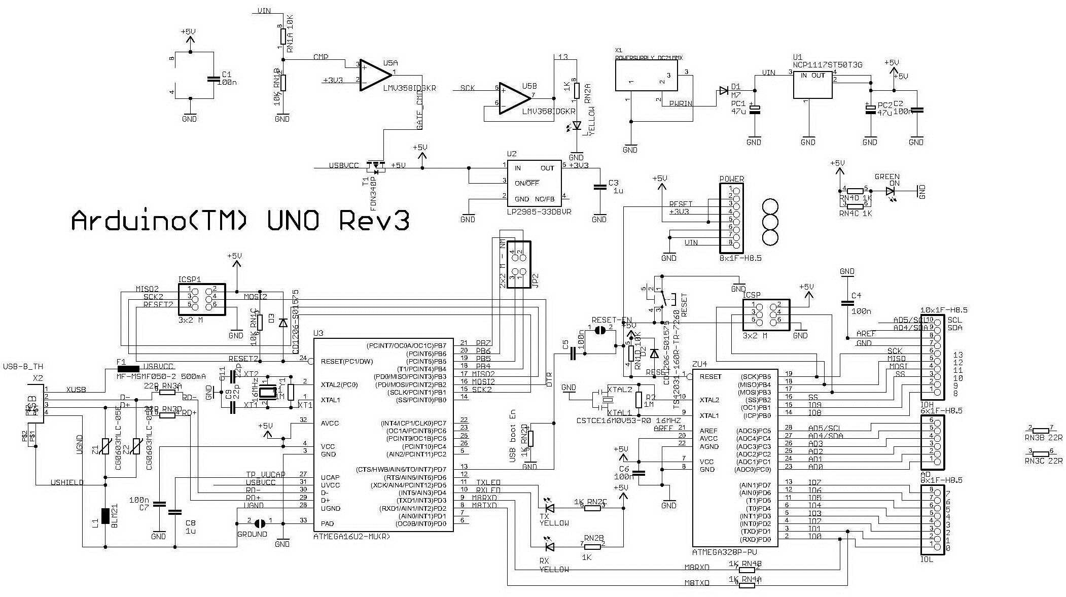 Arduino UNO R3 controller circuit