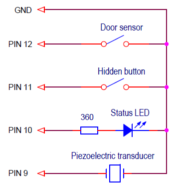 Arduino connection diagram