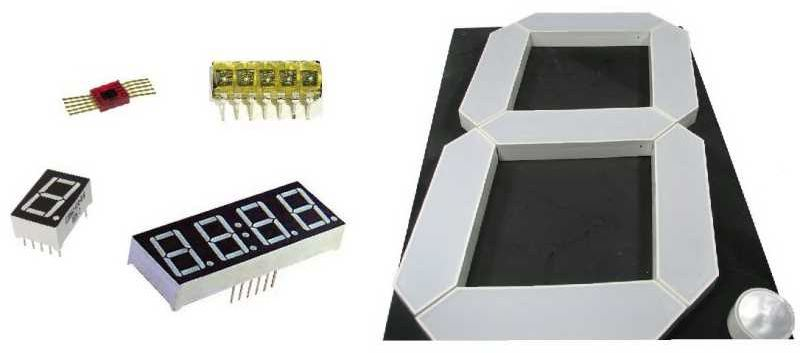 7 segment LED displays