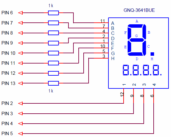 Connecting a seven-segment LED display to Arduino