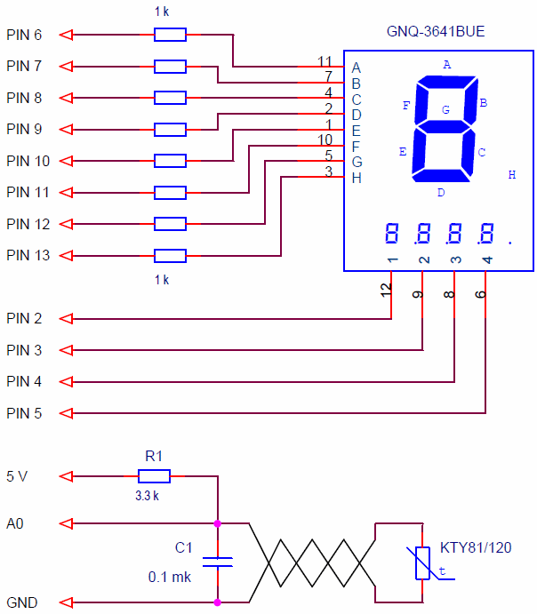 Schematic diagram of the thermometer