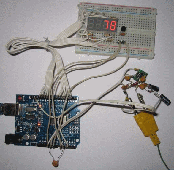Arduino thermometer for a thermocouple