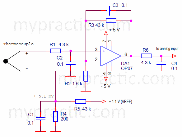 measuring amplifier circuit diagram