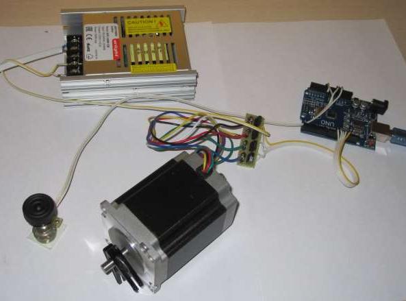 stepper motor positioning system