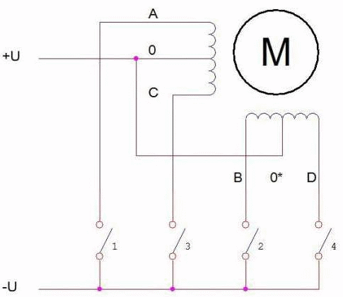 simple unipolar stepper motor driver with Arduino
