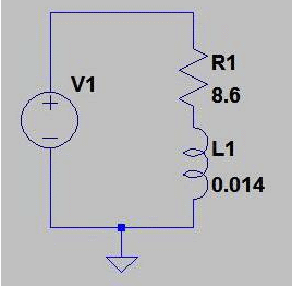 simulated the circuit in the SwCAD